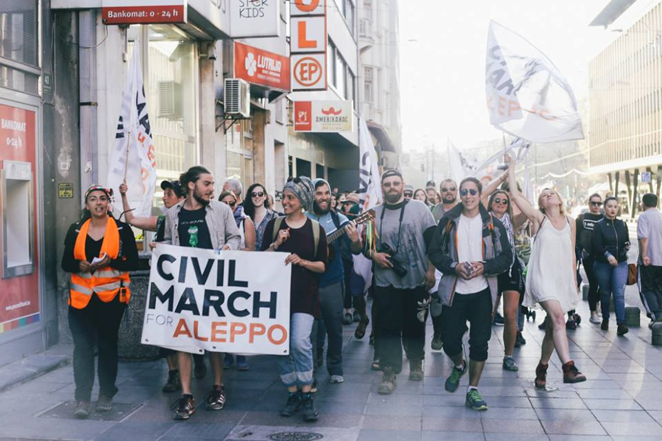 Civil March for Aleppo w Sarajewie