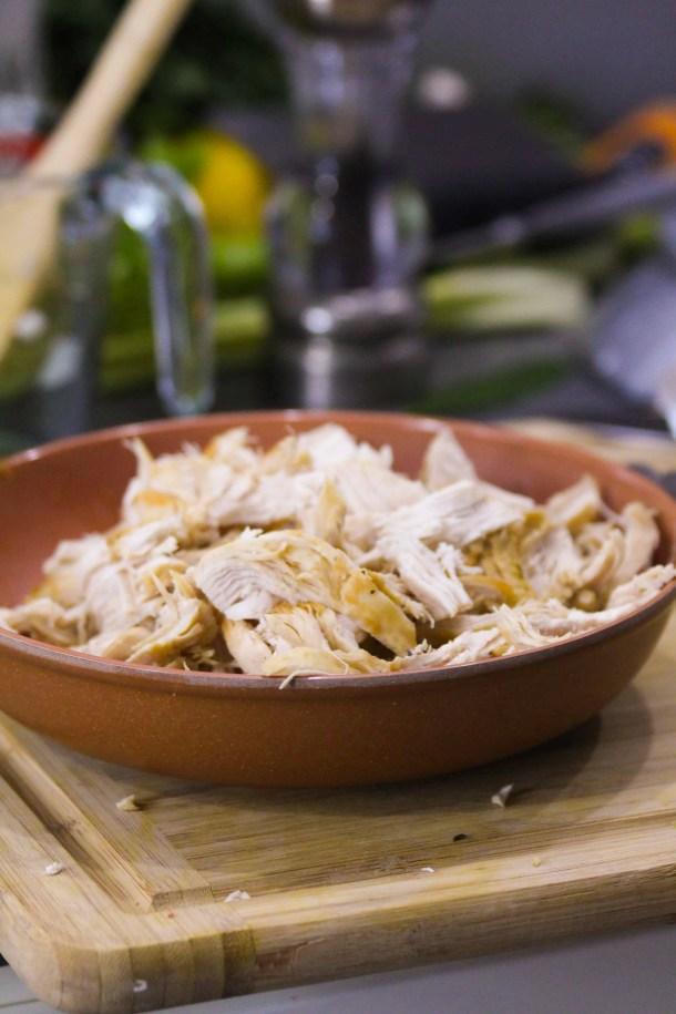 Shredded Chicken breast chicken soup recipe