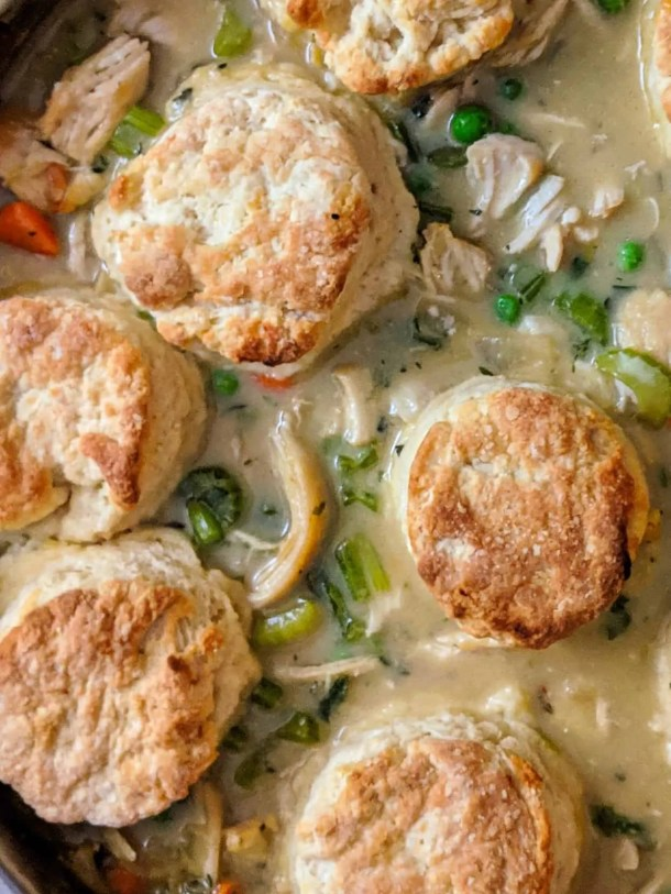 Dwardcooks Healthy Chicken Pot Pie with Biscuits