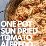 ONE POT SUN DRIED TOMATO ALFREDO Dwardcooks