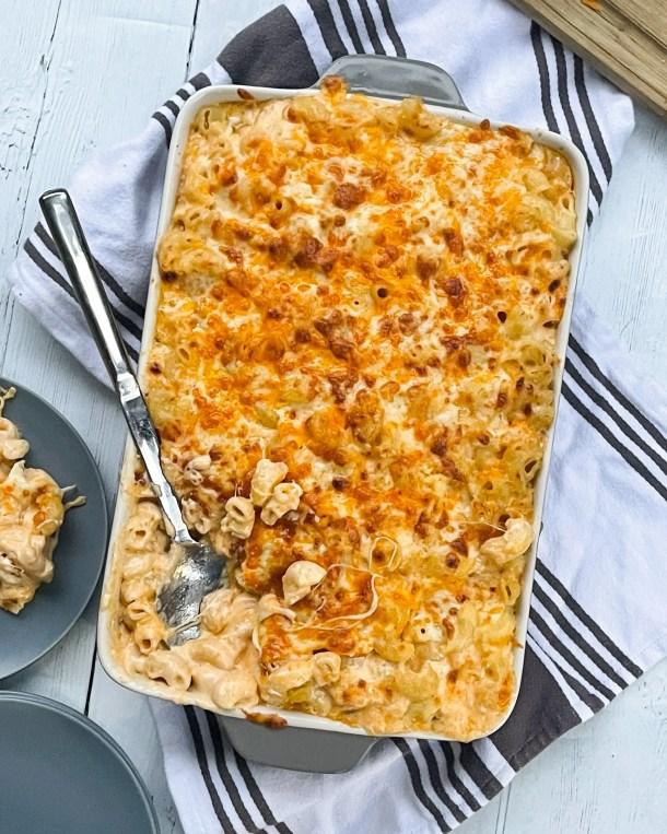 indulgent baked mac and cheese tik tok