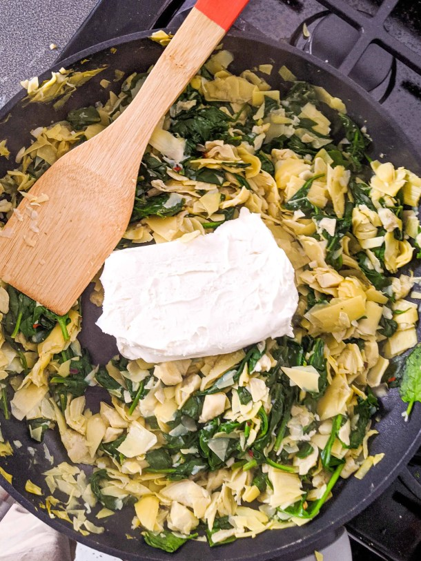 Dwardcooks Spinach Artichoke Dip - cream cheese point