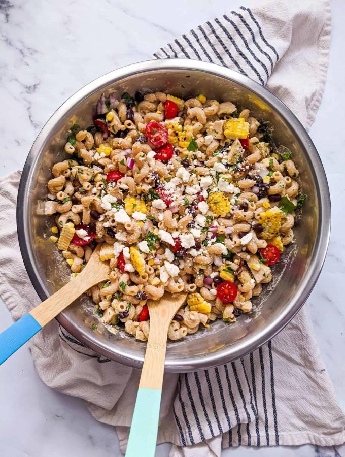 dwardcooks chipotle chicken pasta salad