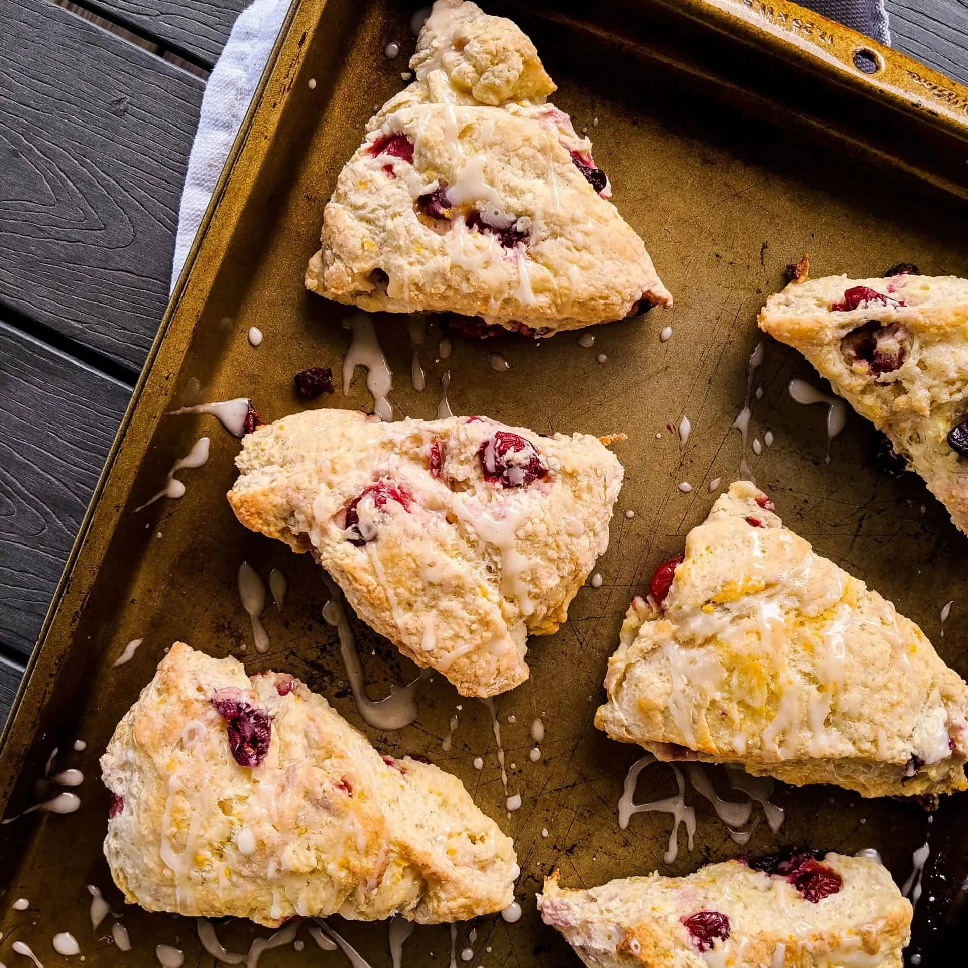 Dwardcooks Cranberry Orange Scones