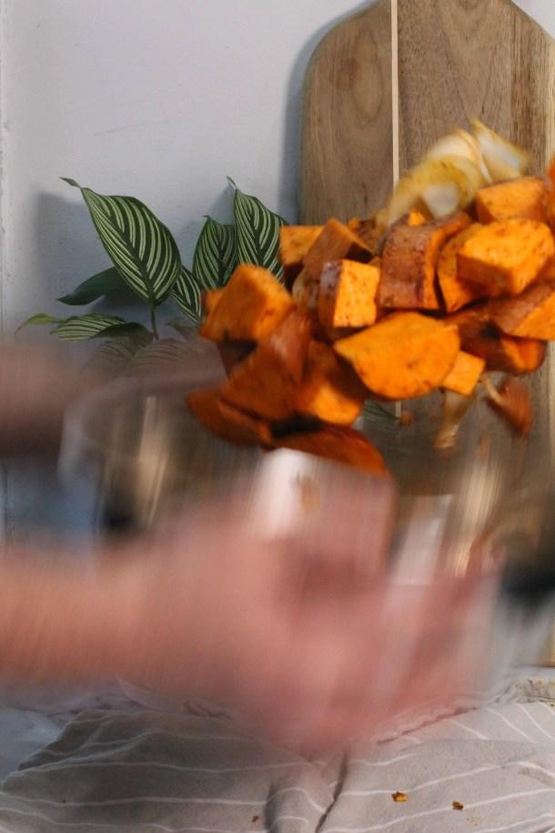 Savory Roasted Sweet Potatoes
