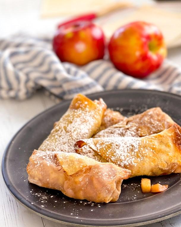 Air fryer Apple Pie Egg Roll Weight Watchers