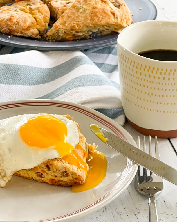healthy ham and cheese scones