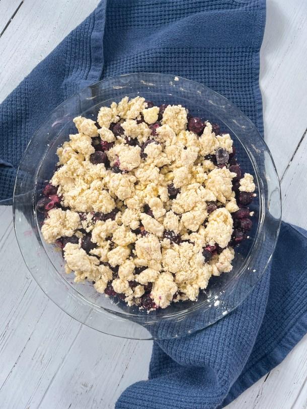 Easy Blueberry Cobbler with Frozen Blueberries Weight Watchers Blueberry Cobbler Healthy  - Crust