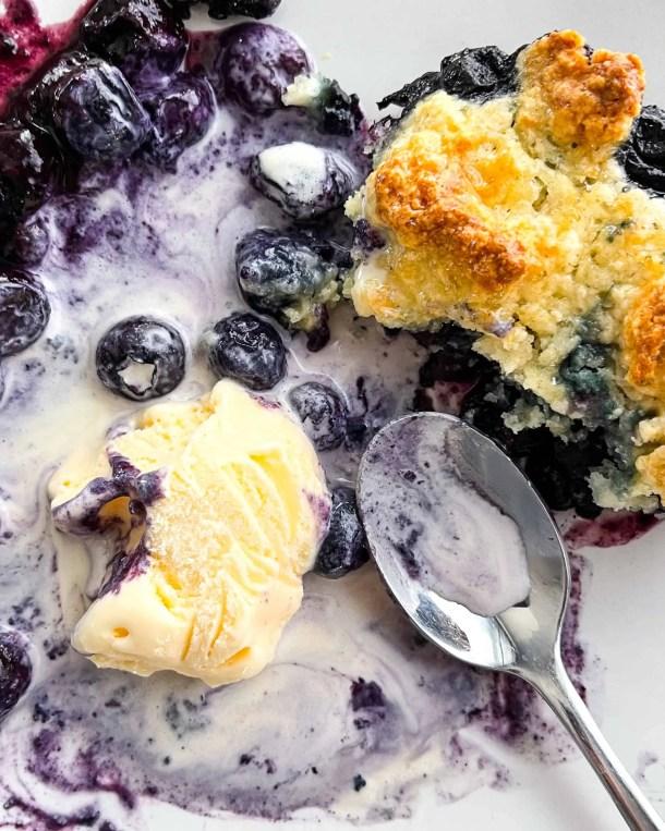 Easy Blueberry Cobbler with Frozen Blueberries Weight Watchers Blueberry Cobbler Weight Watchers Ice Cream