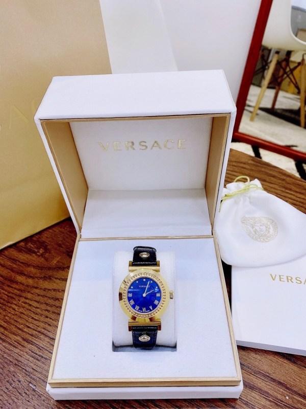 Đồng hồ Versace nữ dây da mặt tròn