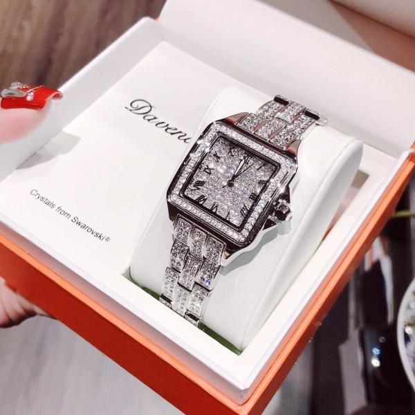 Đồng hồ Davena nữ dây kim loại