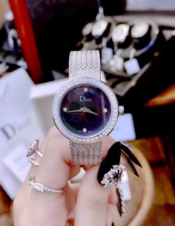 Đồng hồ Dior nữ mặt tròn