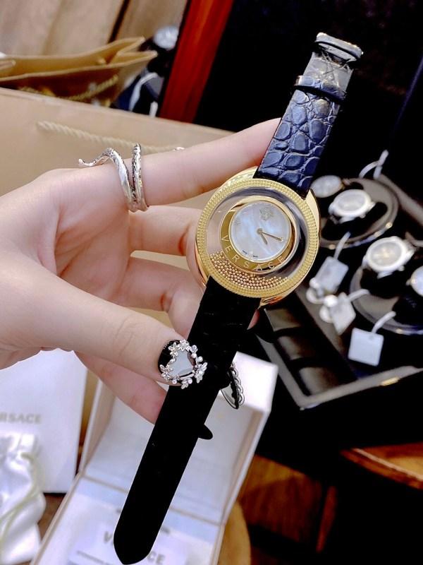 Đồng hồ Versace nữ dây da đen