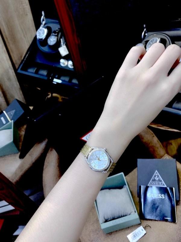 Đồng hồ Guess nữ mặt tròn