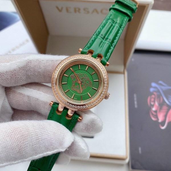 Đồng hồ Versace nữ dây da màu xanh lá cây