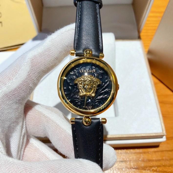 Đồng hồ Versace nữ dây da màu đen
