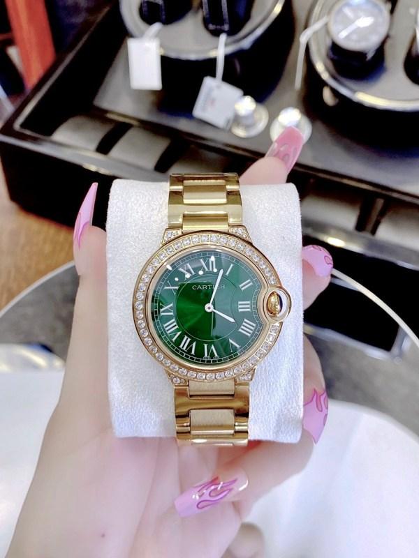 Đồng hồ Cartier nữ đính đá