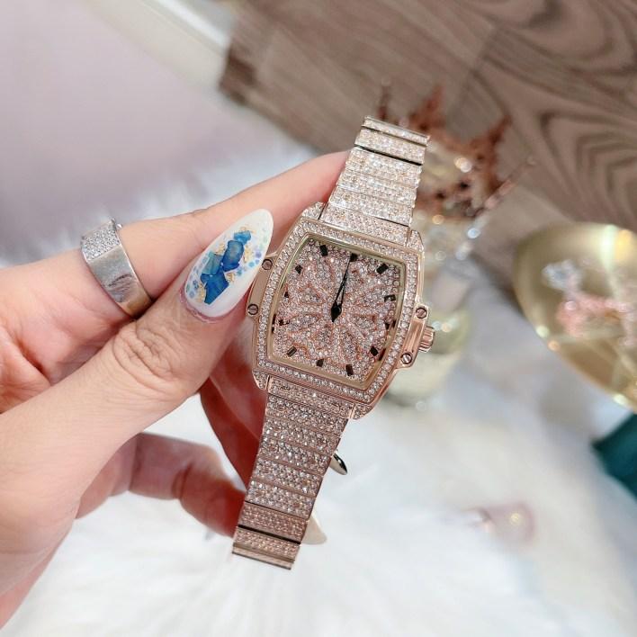 Đồng hồ Davena nữ mặt đá xoay