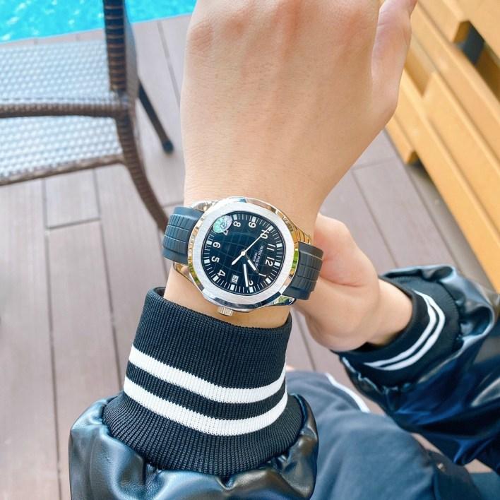 Đồng hồ Patek Philippe nam dây cao su màu đen