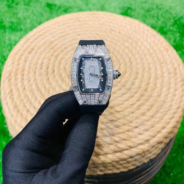 Đồng hồ Richard Mille nữ dây cao su màu đen