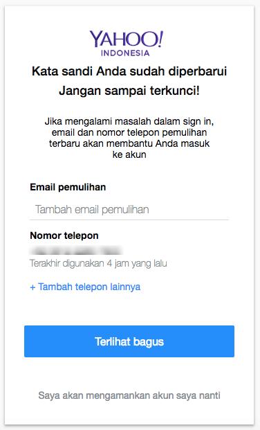 2+ Cara Mengganti Password Email Yahoo Di HP Via Browser