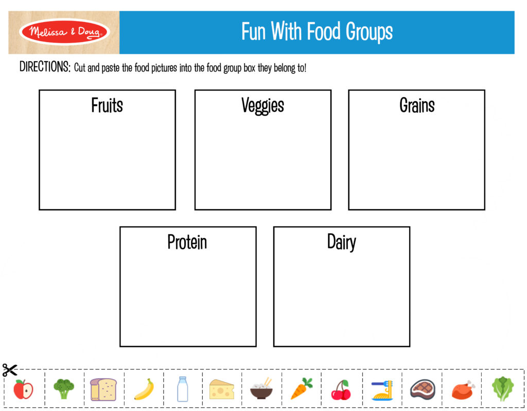 3 Free Printables For Kids Nutrition Activities
