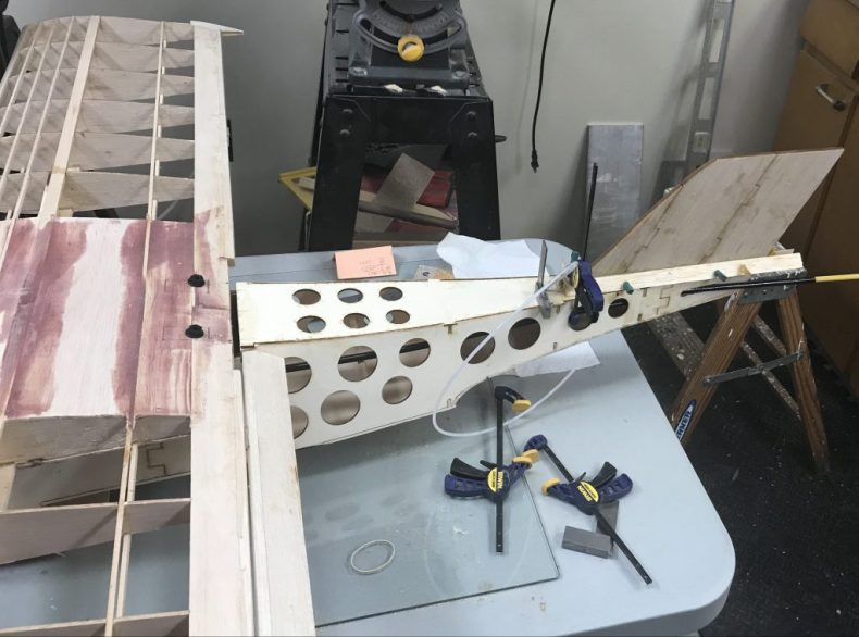 Fin with Supports Glued
