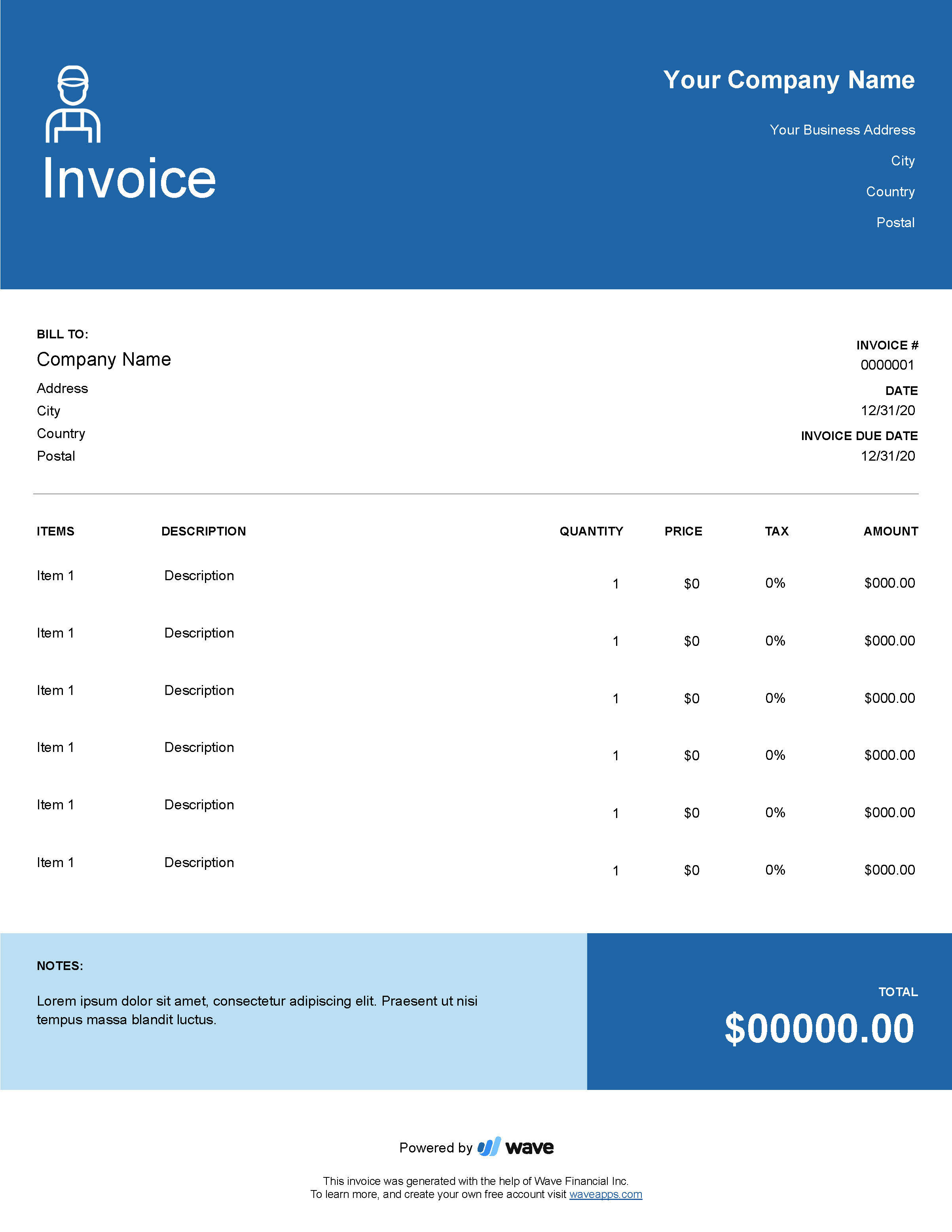 There are two ways on how can use a handyman invoice template. Handyman Invoice Template Wave Invoicing