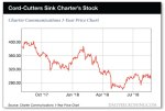 cord-cutters sink charter's stock