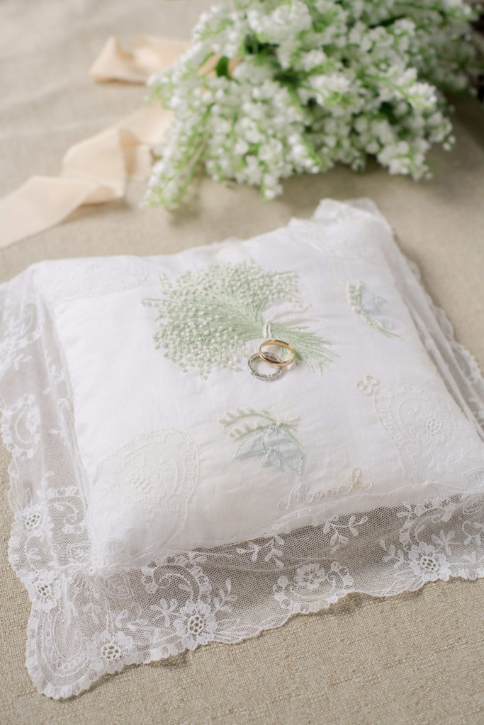 Rings on pillow