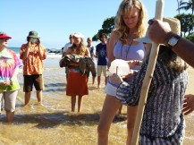 baptising Her in the Pacific Ocean