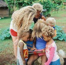 Melanesian children
