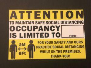 maximum occupancy signage