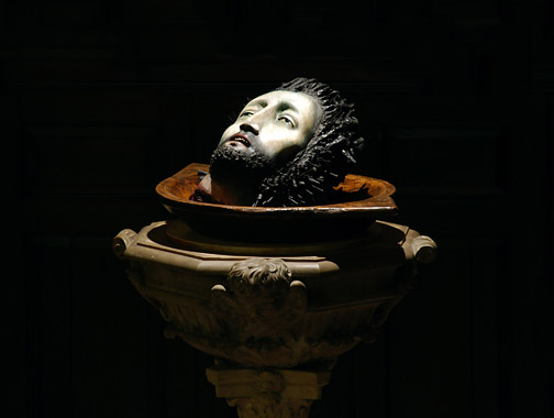 """John the Baptist"" by contemporary Brazilian sculptor Ana Maria Pacheco"