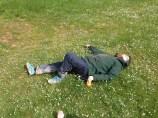 Dom having a siesta.