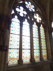 More stained glass inside the cathedral.