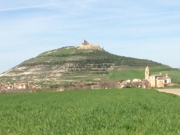 Castrojeriz from a distance. Cool Castle huh?