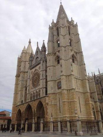 The main cathedral in Leon.