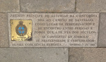 I have no idea what this translates to, but it's in the courtyard of the main cathedral in Santiago.