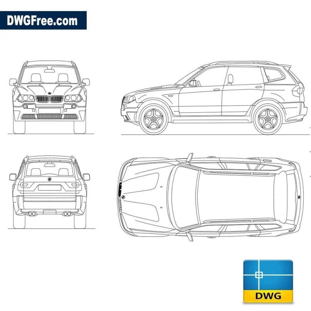 bmw x3 autocad blocks