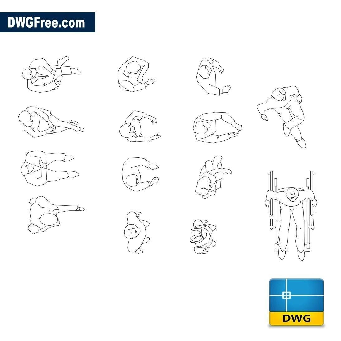 People top view – Free CAD Blocks Drawing