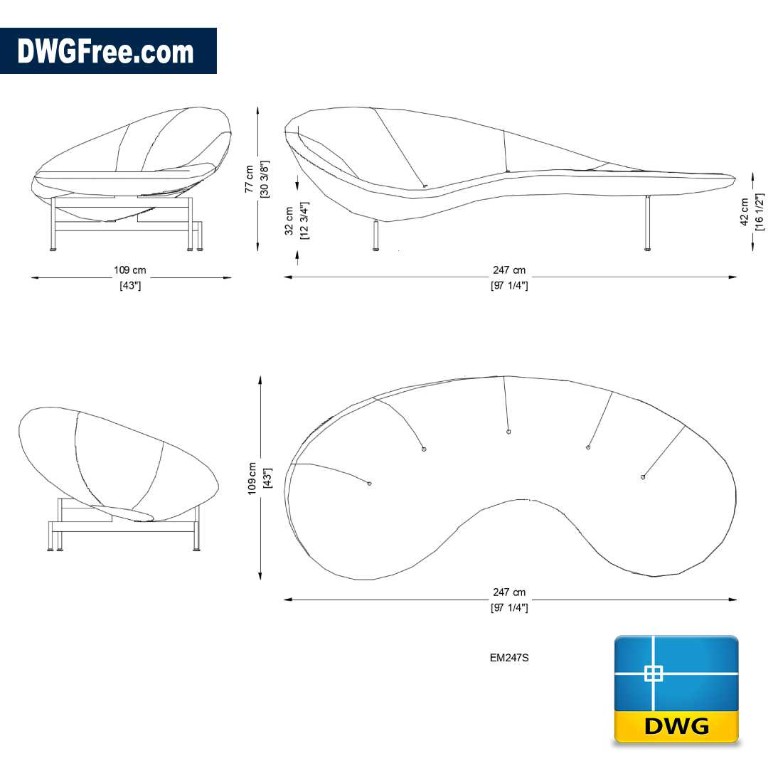 Sofa Eda Mame Dwg Drawing In Autocad 2d Free Dwgfree