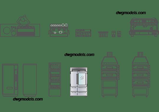 Furniture for bar 1 DWG free CAD Blocks download