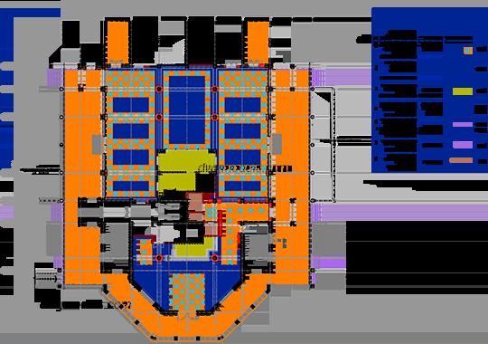 Hotel 2. Floor Plan L1 DWG, Free CAD Blocks Download