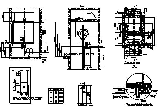 Lifts 3. KONE DWG, free CAD Blocks download