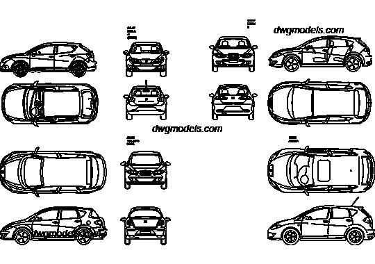 Seat 1 DWG, free CAD Blocks download