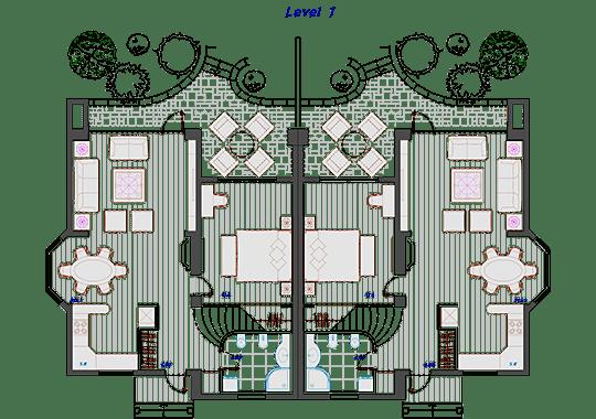 Semi-detached house 2 DWG, free CAD Blocks download