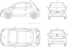 Cars Top View CAD blocks, vector models, AutoCAD file download