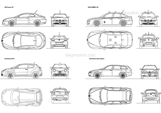Alfa Romeo 1 DWG, free CAD Blocks download