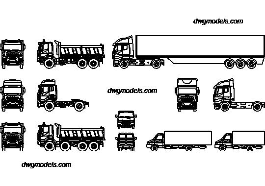 Truck Iveco DWG, free CAD Blocks download
